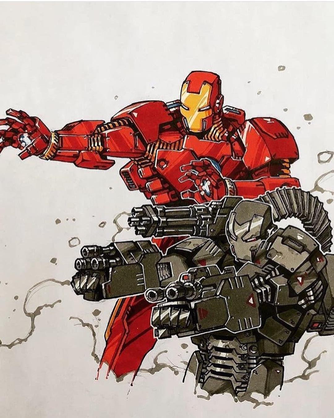 Iron Man and War Machine by Artemii Myasnikov, 2020