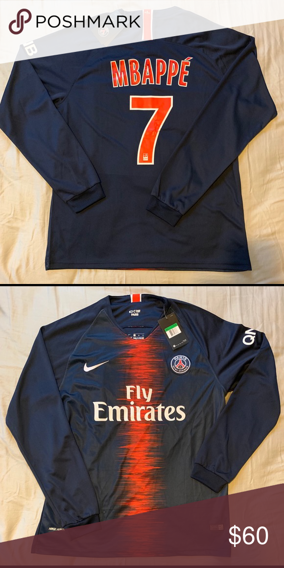 check out 84ba7 f200f New Nike PSG Mbappe size XL long sleeve New with tags Nike ...