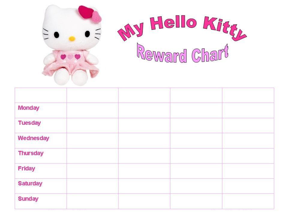 Reward Chart Template For Kids   Kiddo Shelter   Printable Reward ...