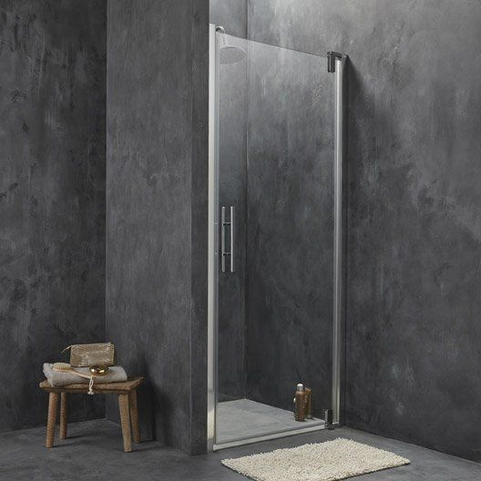porte de douche pivotante breuer adena verre de s curit transparent leroy merlin in my home. Black Bedroom Furniture Sets. Home Design Ideas
