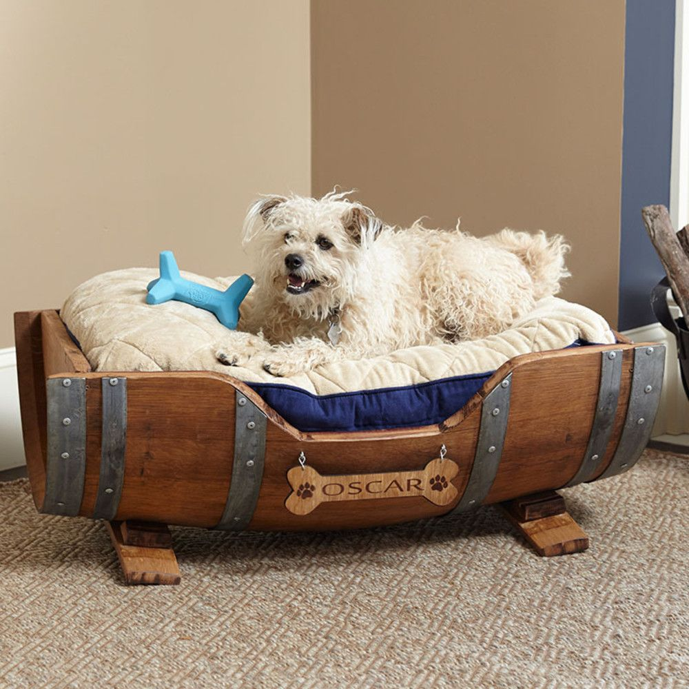 I loved this Personalized Wine... Now available in our store. Check it out here! http://www.letswinealittle.com/products/personalized-wine-barrel-pet-bed-large