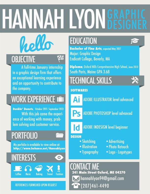 Design forward take on a resume My Graphic Design Resume - 2013