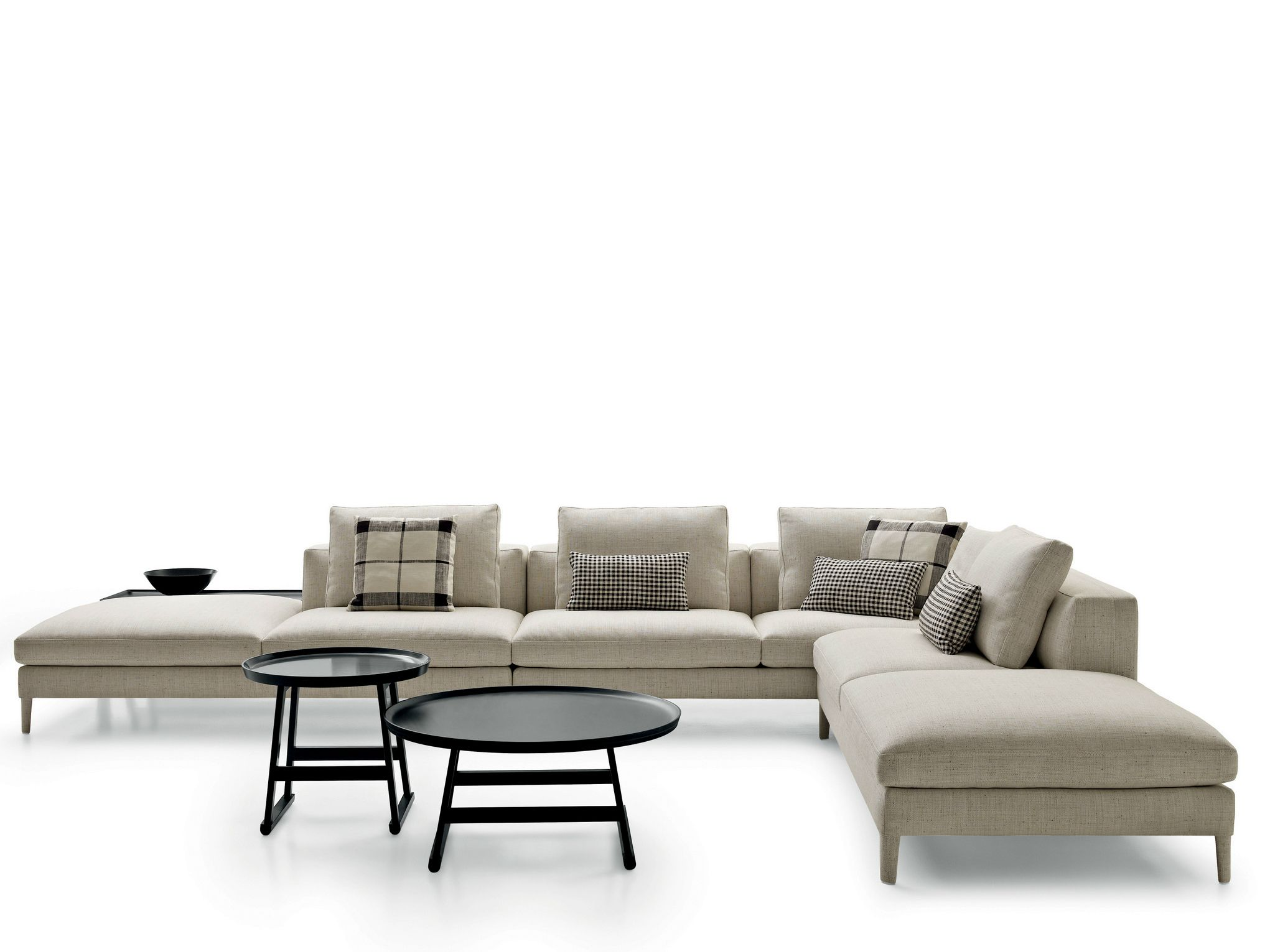 Corner sectional upholstered fabric sofa Dives Collection by