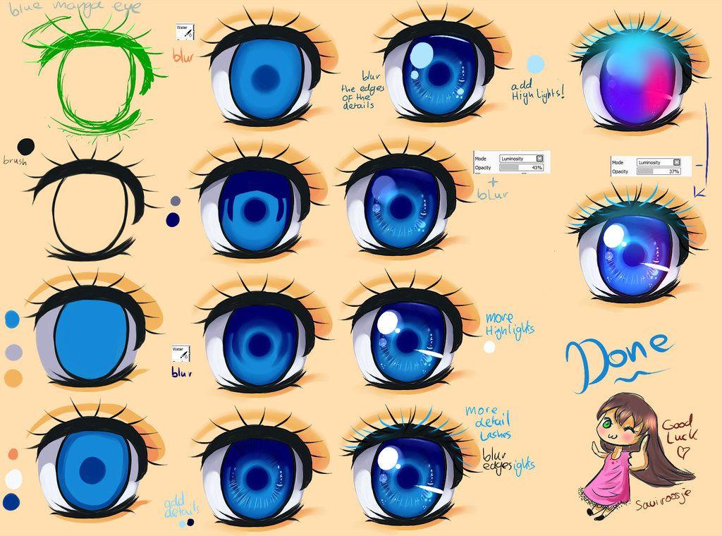 Eye Coloring Tutorial Anime Eye Drawing Manga Eyes Eye Drawing Tutorials