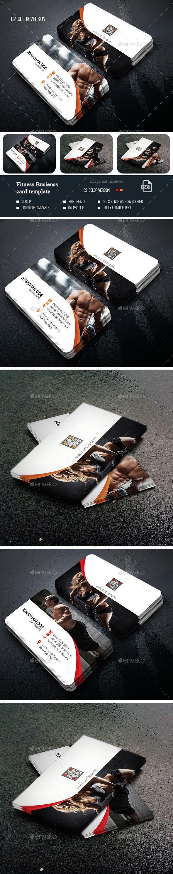Fitness Business Card | Plantillas para tarjetas de presentacion ...