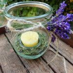 #Tischdeko #Lavendel #Kerze