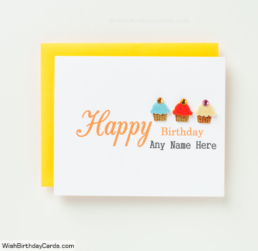 Wishing Happy Birthday Cards For Men With Name – Birthday Cards for Men