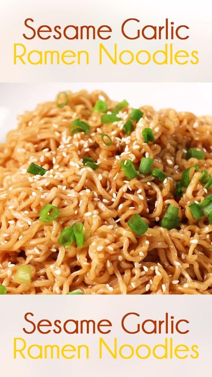 Ramen noodles with sesame garlic Ramen noodles with sesame garlic,