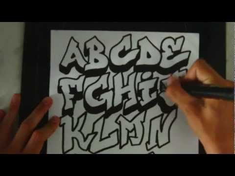 graffiti alphabet drawing graffiti letters abc youtube