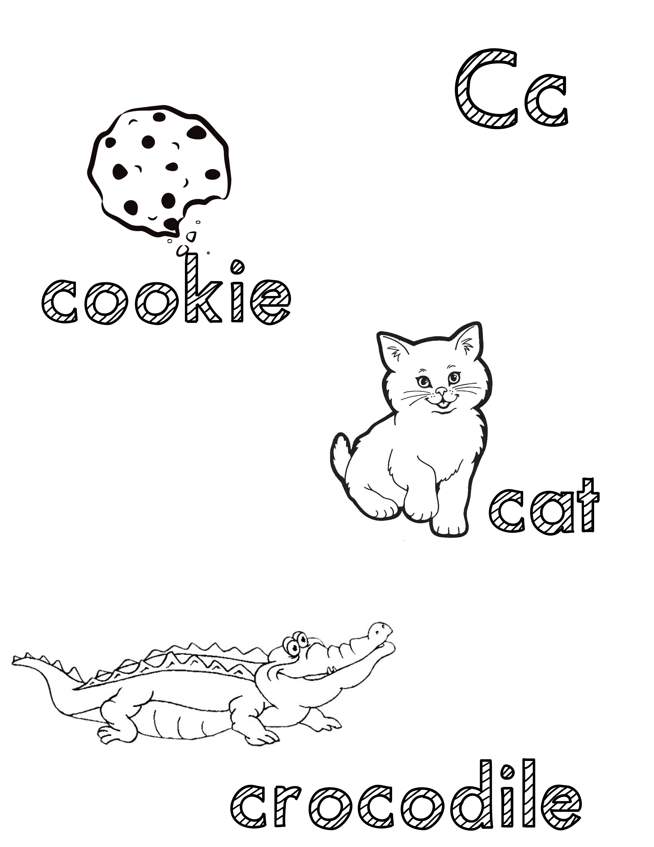 Phonetic Cc Coloring Sheet