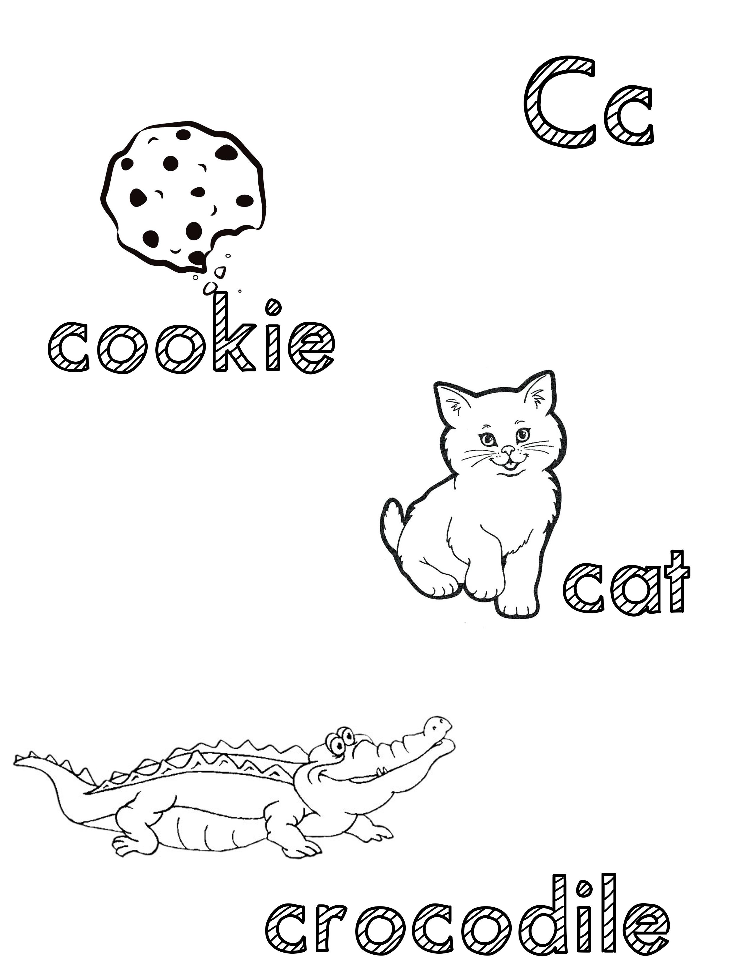 Phonetic Cc Coloring Sheet