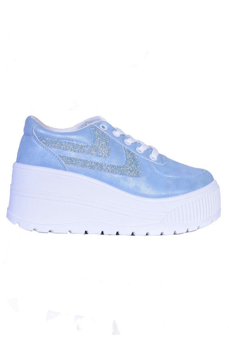 Aries Platform Sneaker - Baby Blue