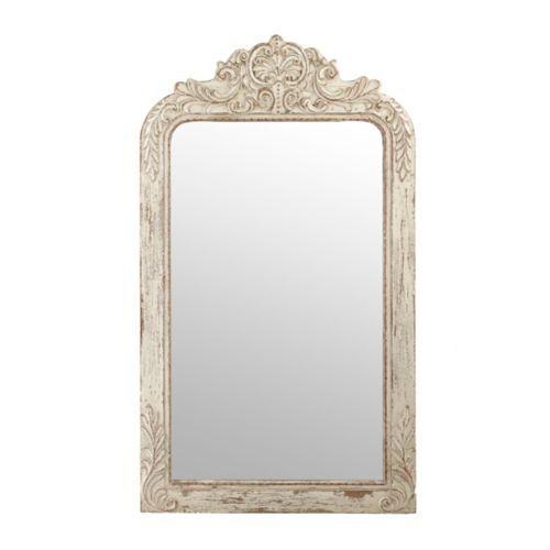 Ornate Ivory Victorian Framed Mirror, 28x49   Victorian frame, Frame ...