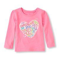 """Camiseta estampada """"Grandma Is The Best"""" con corazón, mangas largas"""