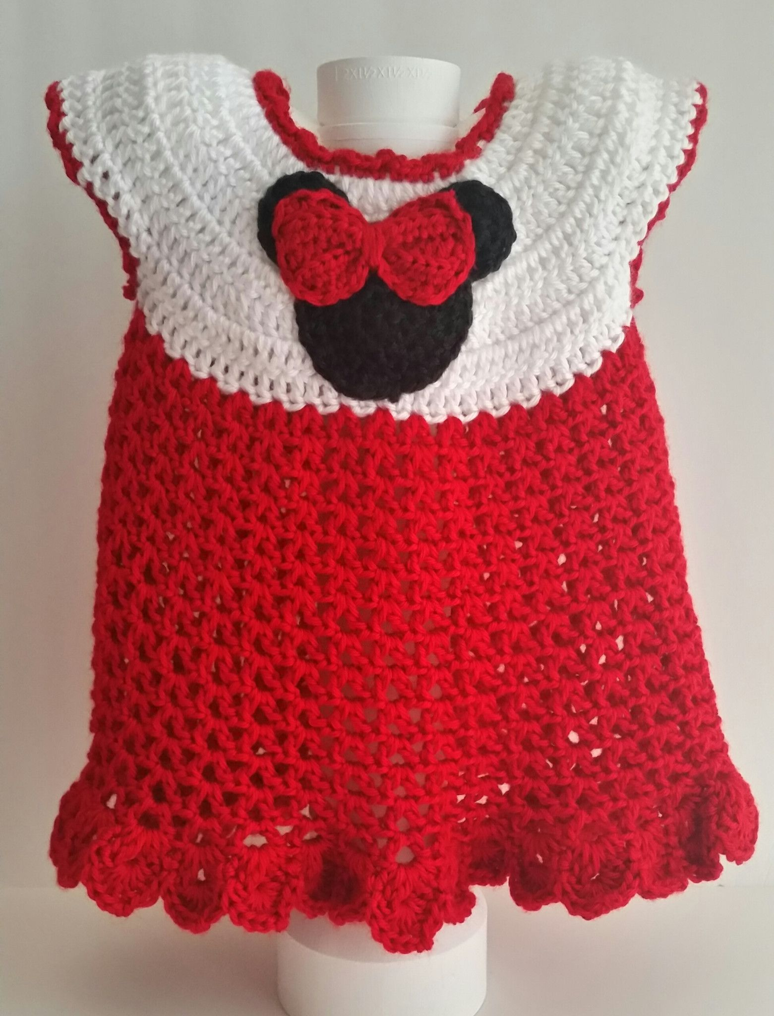 Girl Mouse Dress Red 6 Mos
