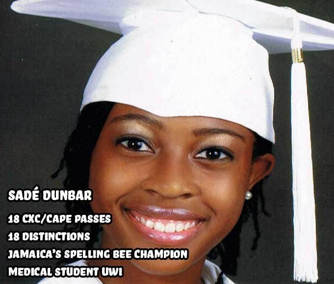 Sadé Dunbar bright girl genius from Jamaica