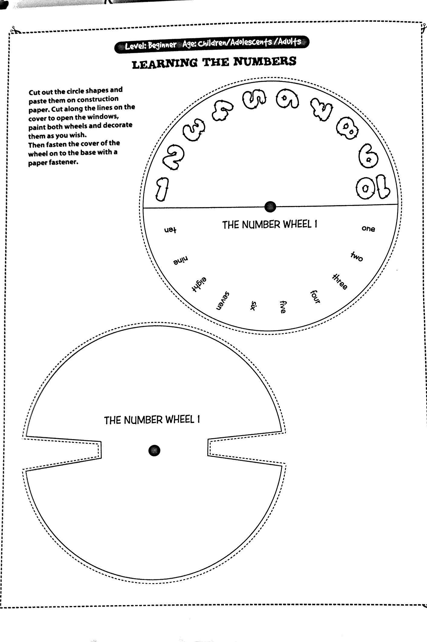 Spinning Wheel Numbers 1 10