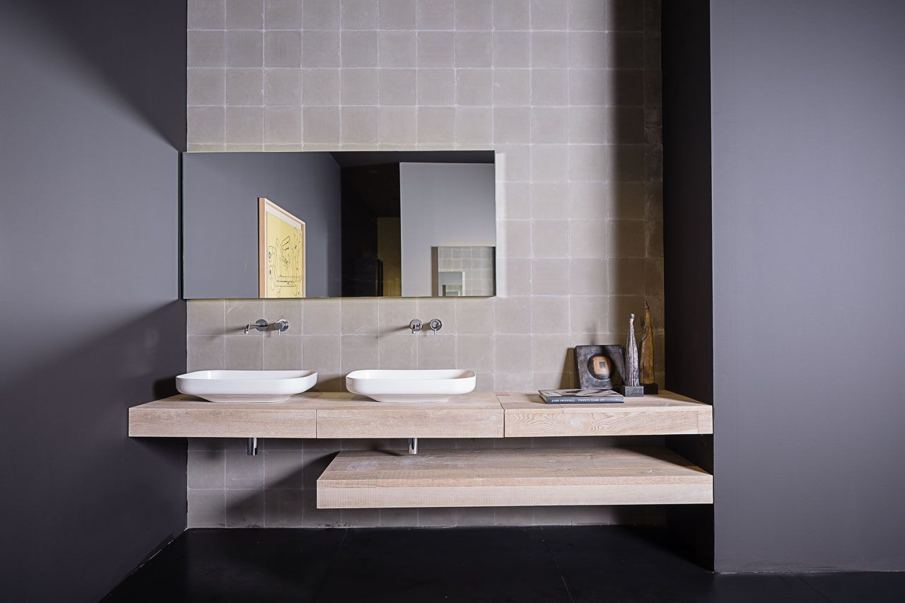Dal Salone del Mobile. SIGN Collection 2016: Top legno SOLID. BEL lavabo appoggio in ceramica. #salonedelmobile #salonedelbagno