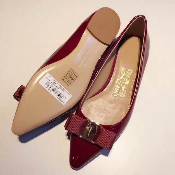 f0cf96463e710 Ferragamo Emy patent ballerinas flats Wine