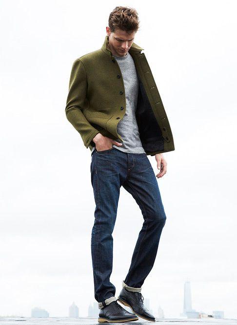 Green Peacoat | Mens Fashion Magazine