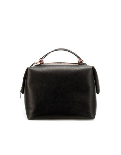 Zara Pleated Bowling Bag W Rose Gold Hardware