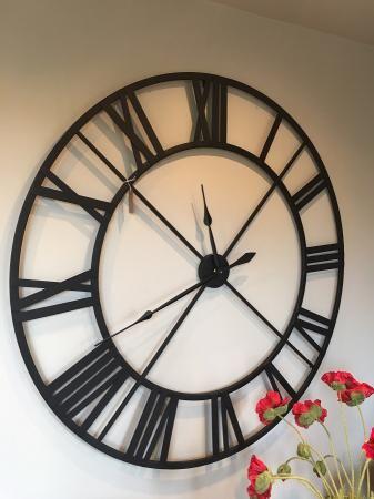 Large Black Metal Outline Skeleton Wall Clock Black Wall Clock Skeleton Wall Clock Clock