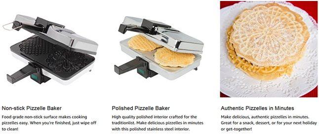Cucinapro Pizzelle Maker Cookware News Pinterest Pizzelle