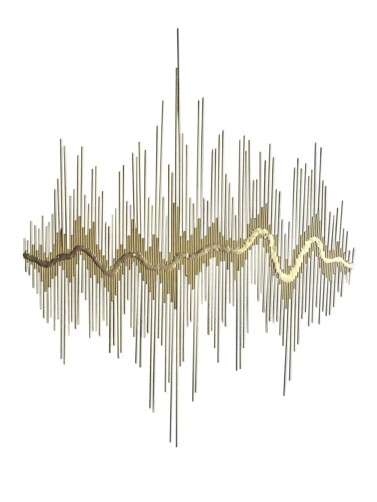 Quot Sound Waves Quot Metal Wall Sculpture On Chairish Com A1 In