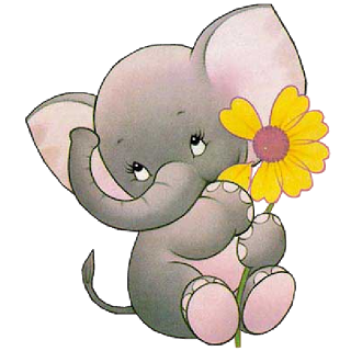 Valentine Elephantu0027s Cartoon Clip Art Images Are On A Transparent Background