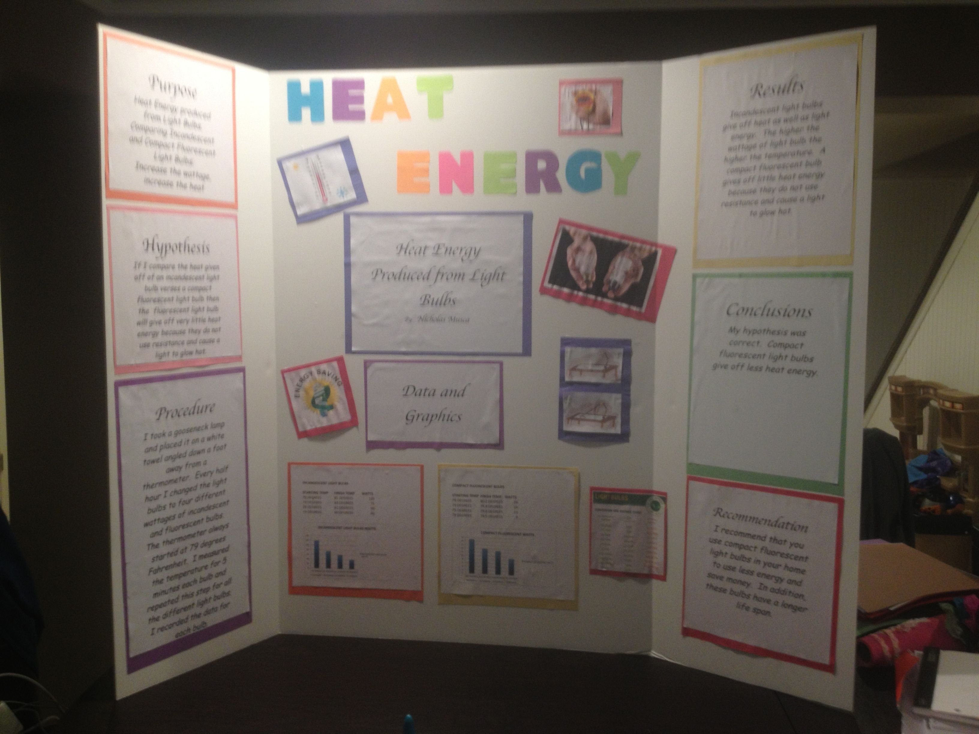 Science Project Heat Energy