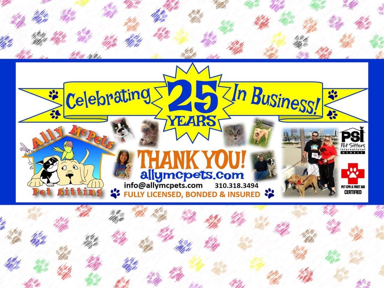 Ally McPets Pet Sitting and Dog Walking was established in