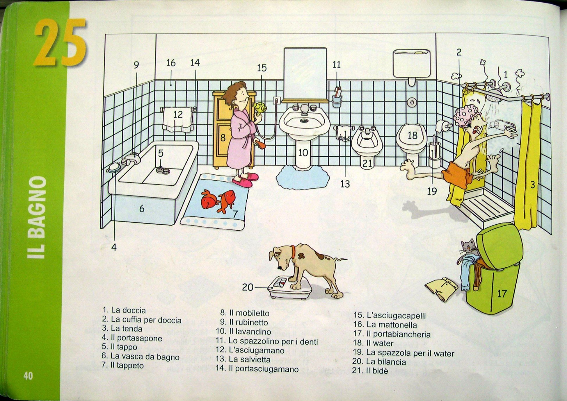 Pag 34 La casa: il bagno | Italian Language | Pinterest | Learning ...