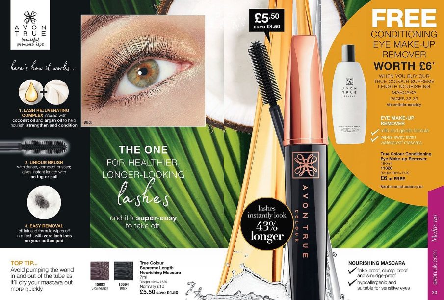 True Colour Supreme Length Nourishing Mascara £5.50 + FREE