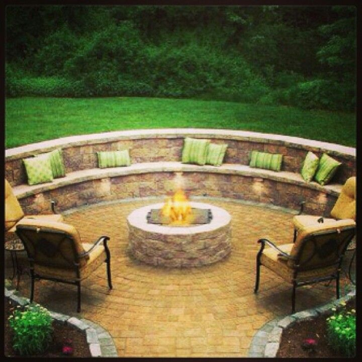 Backyard Fire Pit Landscaping Ideas: SEXY Backyard Idea! Might Be My Favorite! -- I REALLY WANT