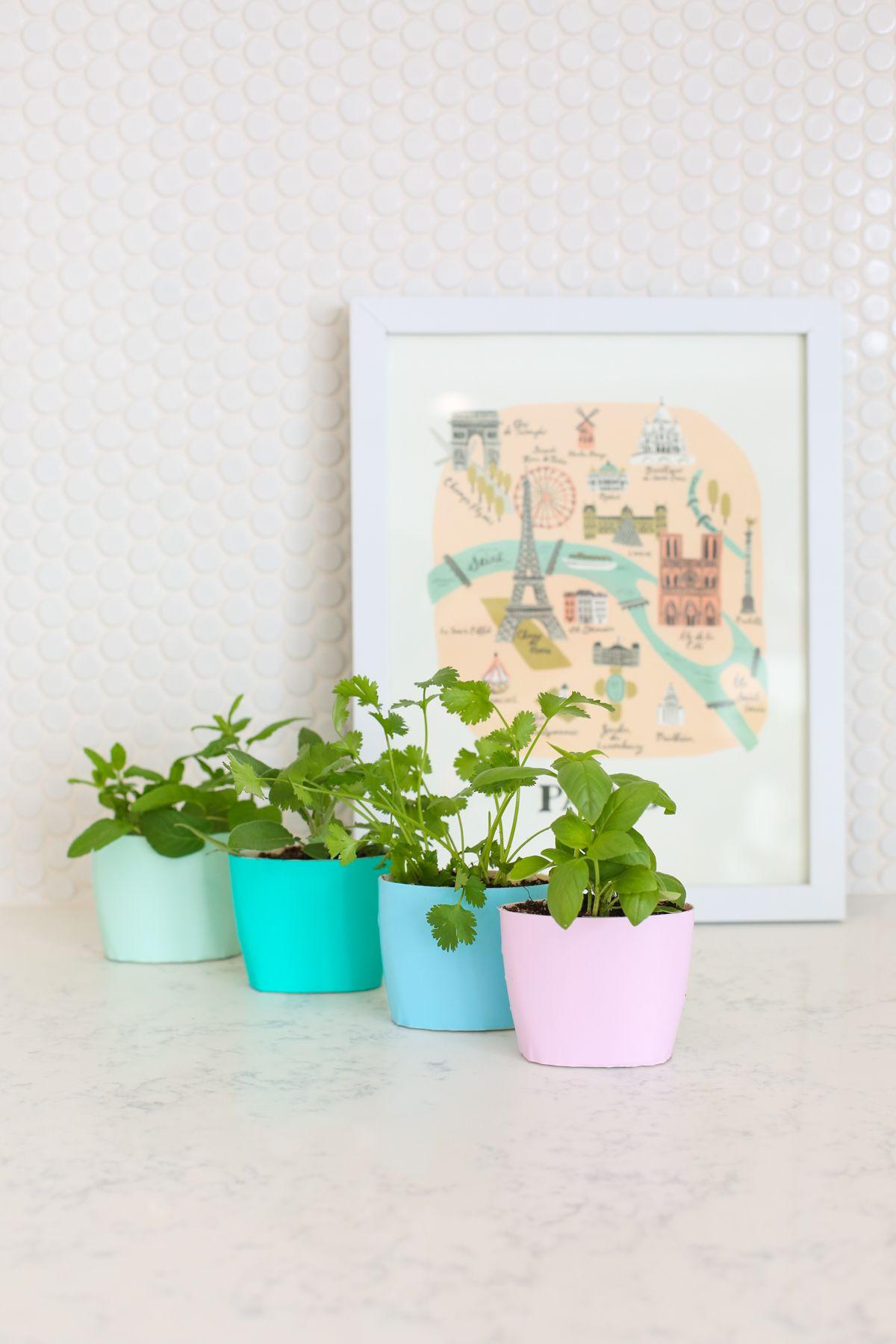 Pots de fleurs en dgrad de couleurs ombre flower pots diy pots de fleurs en dgrad de couleurs ombre flower pots mightylinksfo