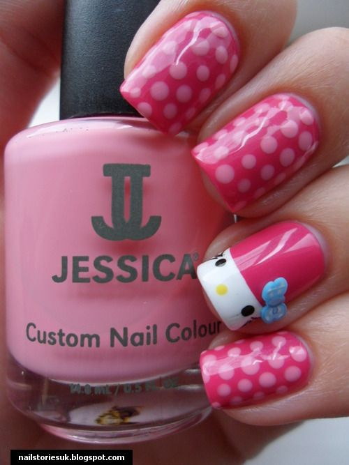 Hello Kitty Nails ..want em | nails | Pinterest | Hello kitty nails ...