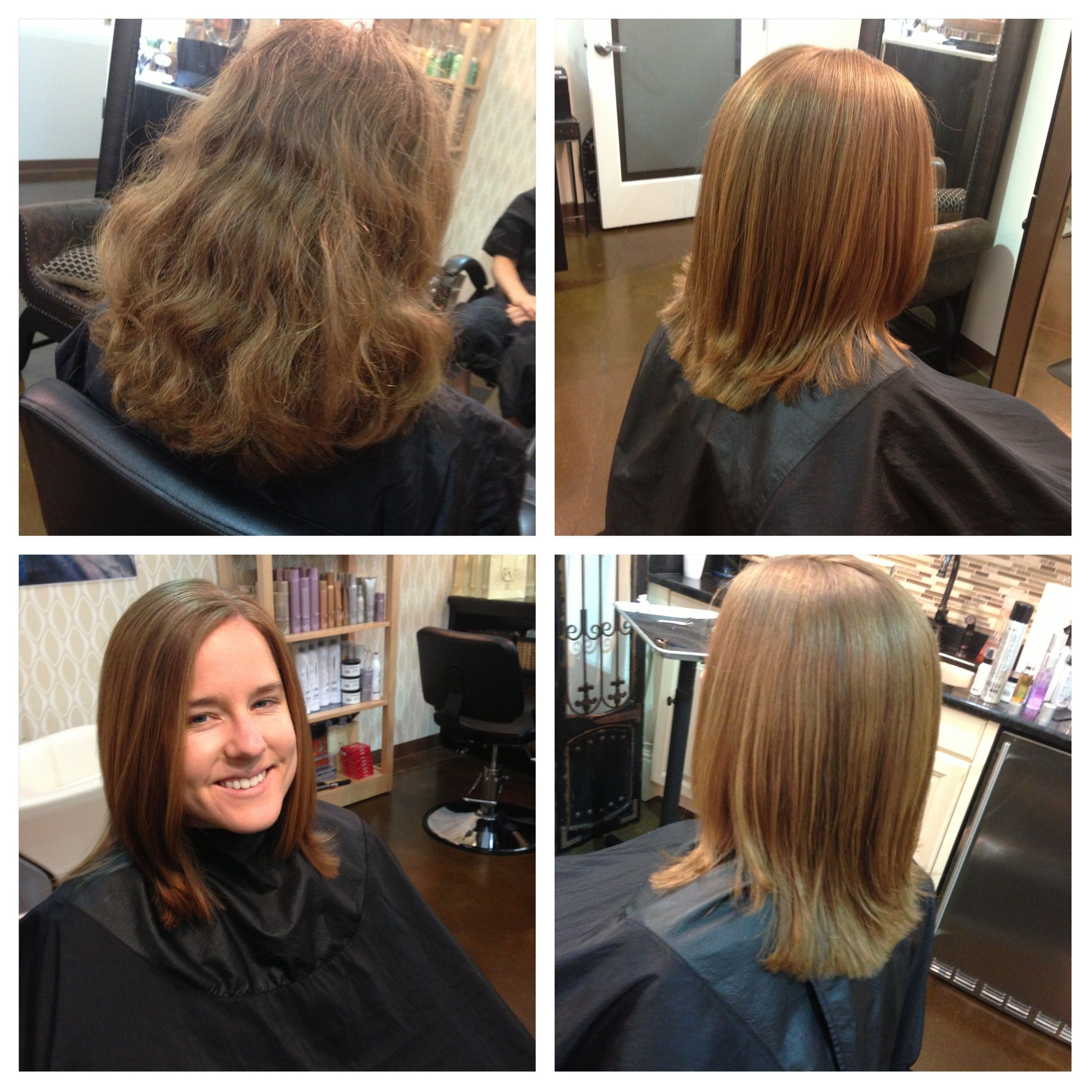 Before/After haircut & blowout with Peter Coppola