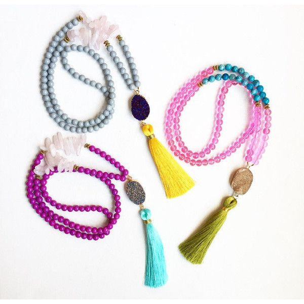 Colorful Tassel Necklace, Beaded Tassel Necklace, Long Beaded... ❤ liked on Polyvore featuring jewelry, necklaces, beaded tassel necklace, colorful statement necklace, long necklaces, colorful necklaces and tassle necklace
