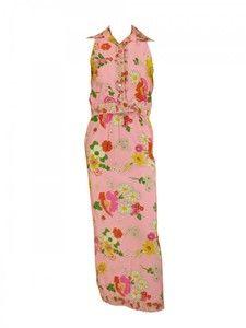 1970s Oscar de la Renta Floral Set
