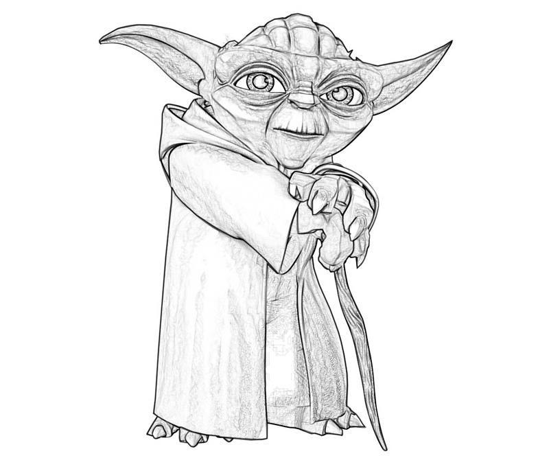 Printable Yoda Yoda Old Coloring Pages 5