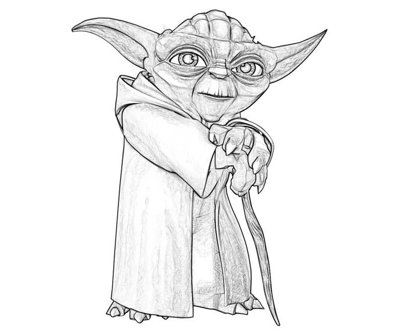 Printable Yoda Yoda Old Coloring Pages 5 Tubing Yoda Drawing