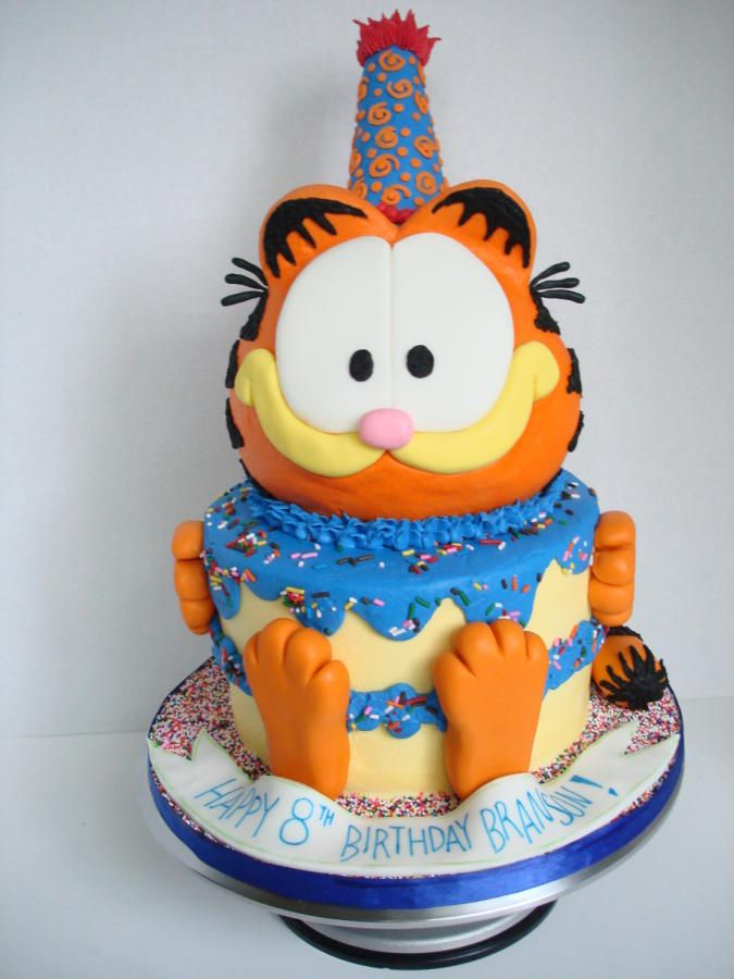 Wondrous Garfield Birthday Cake With Images Garfield Cake Birthday Personalised Birthday Cards Veneteletsinfo