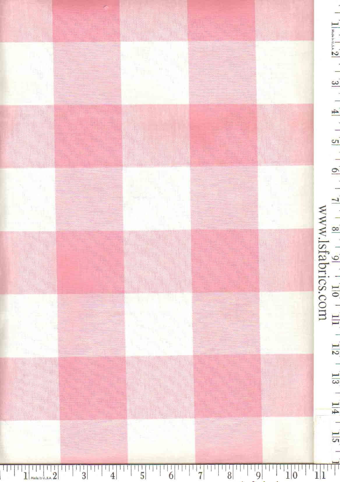 Checkmate Color Strawberry Repeat5 Width54 Content100 Cotton Usedrapery Upholstery Tagscheck Plaid Pink
