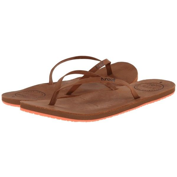 Reef Leather Uptown Women's Sandals ($46) ❤ liked on Polyvore featuring shoes, sandals, beach shoes, real leather shoes, reef shoes, leather sandals e arch support sandals