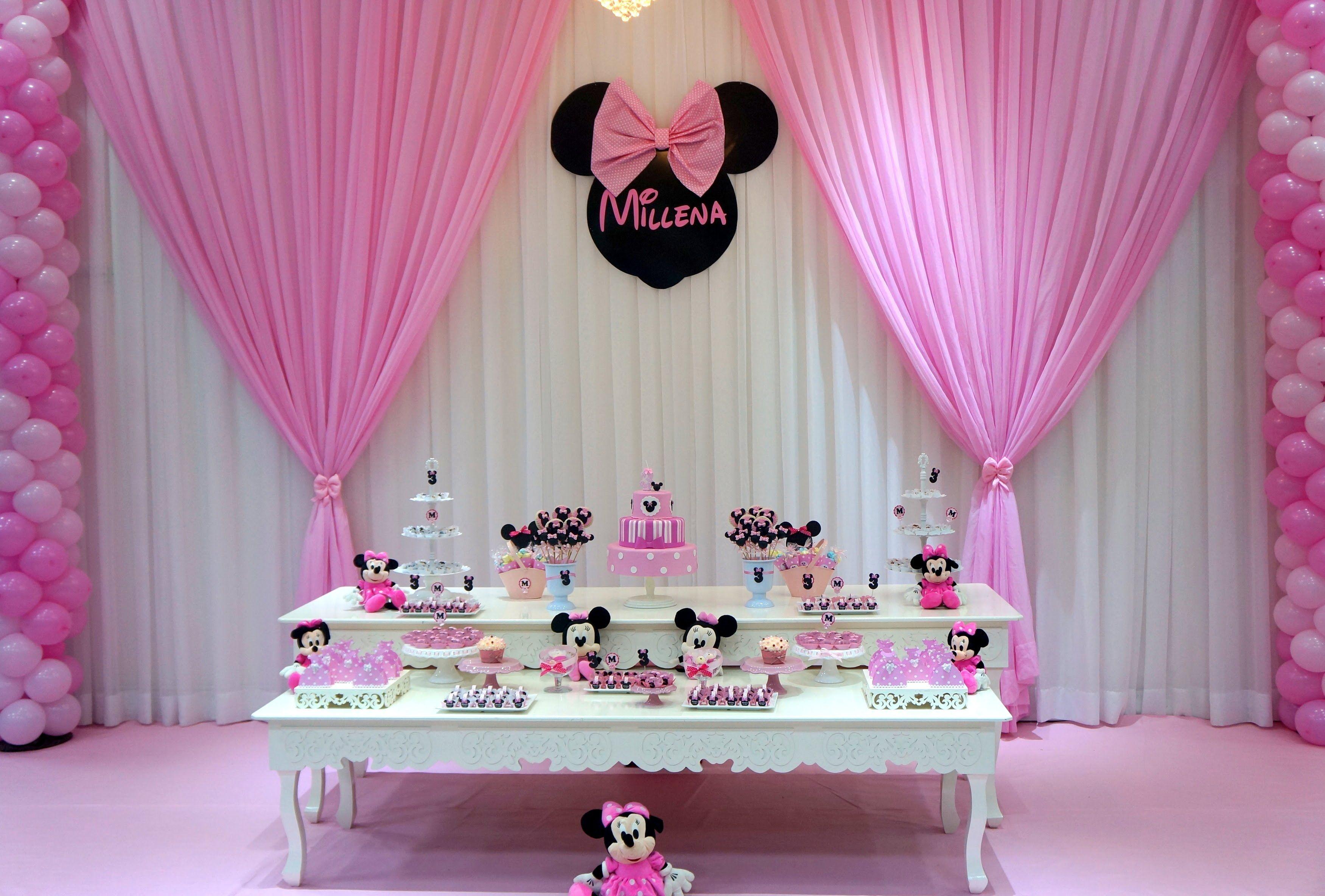 Aniversario Millena Festa Da Minnie Rosa Festa Minnie Rosa