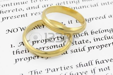 Prenuptial agreement Shallow DOF on the word PROPERTY business - agreement in word