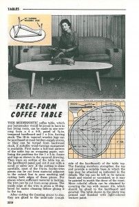 Boomerang Tv Meubel.1961 Instructions To Build Your Own Boomerang Coffee Table