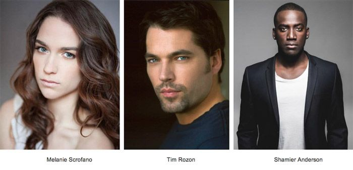 "Melanie Scrofano, Tim Rozon and Shamier Anderson are set to star in the ""Wynonna Earp"" TV series coming to Syfy in April 2016. Description from examiner.com. I searched for this on bing.com/images"