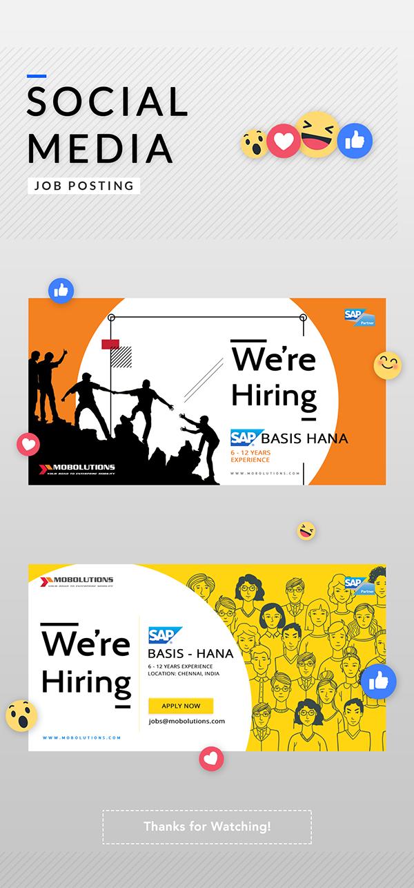 Social Media Job Posting On Behance In 2021 Social Media Jobs Job Posting Social Media