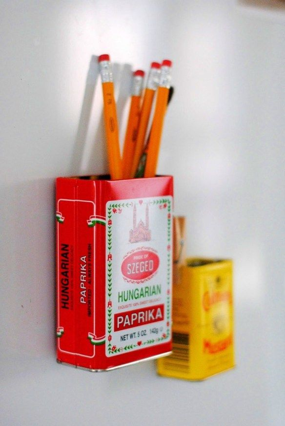 Magnetic Upcycled Storage Tin DIY
